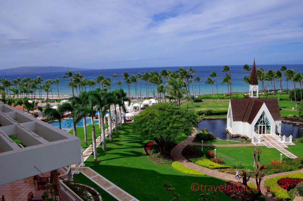 View from our room baclcony at Grand Wailea