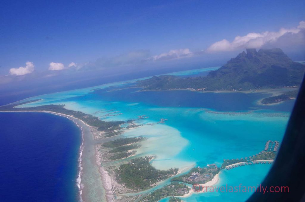 Aerial view of the Island of Bora Bora